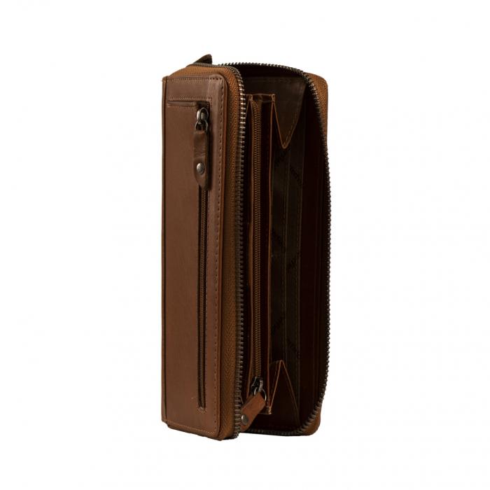 Portofel dama, The Chesterfield Brand, cu protectie anti scanare RFID, din piele naturala, Nova, Bleumarin [6]
