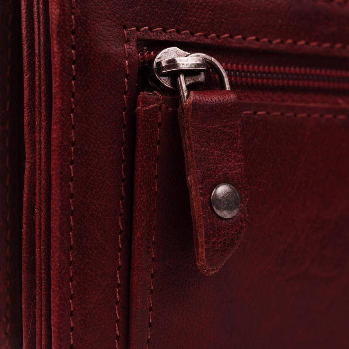 Portofel dama, The Chesterfield Brand, cu protectie anti scanare RFID, din piele naturala, Hampton, Visiniu [3]