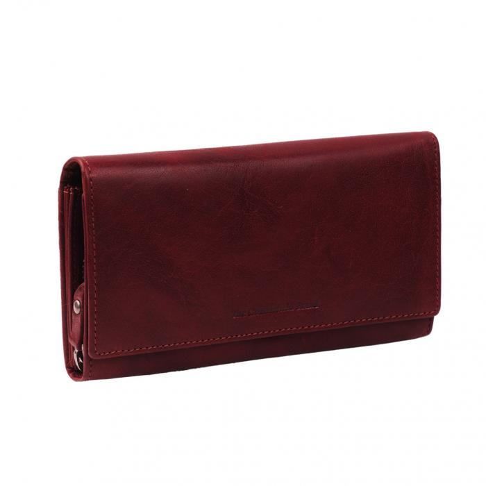 Portofel dama, The Chesterfield Brand, cu protectie anti scanare RFID, din piele naturala, Hampton, Visiniu [0]