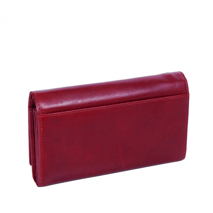Portofel dama, The Chesterfield Brand cu protectie anti scanare RFID, din piele naturala rosie, Vilai 3