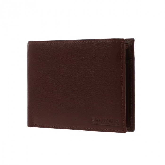 Portofel din piele fina maro coniac Eminsa pentru barbati, model 1057 [1]