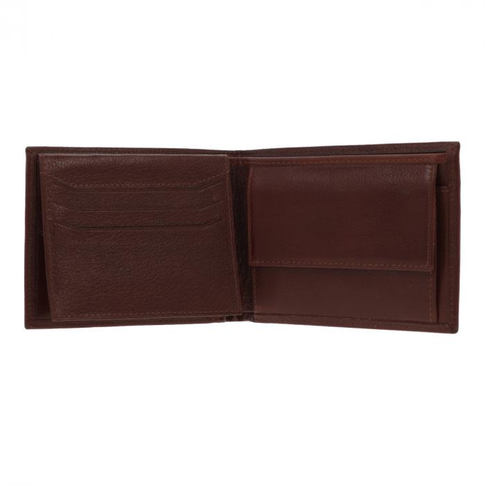 Portofel din piele fina maro coniac Eminsa pentru barbati, model 1057 [2]
