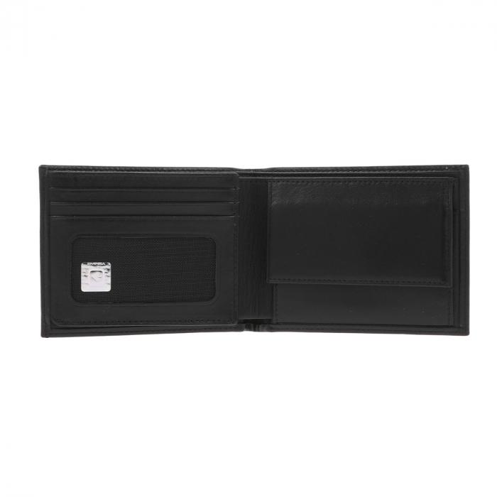 Portofel din piele fina neagra Eminsa pentru barbati, model 1020 [2]