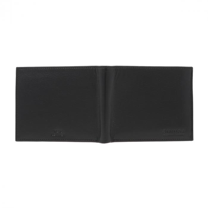 Portofel din piele fina neagra Eminsa pentru barbati, model 1020 [4]