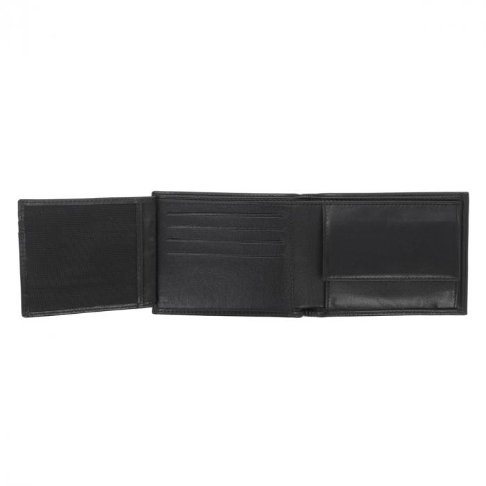 Portofel din piele fina neagra Eminsa pentru barbati, model 1020 [3]