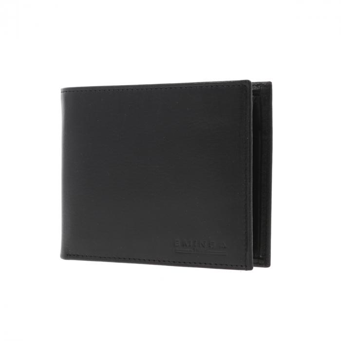 Portofel din piele fina neagra Eminsa pentru barbati, model 1020 [1]