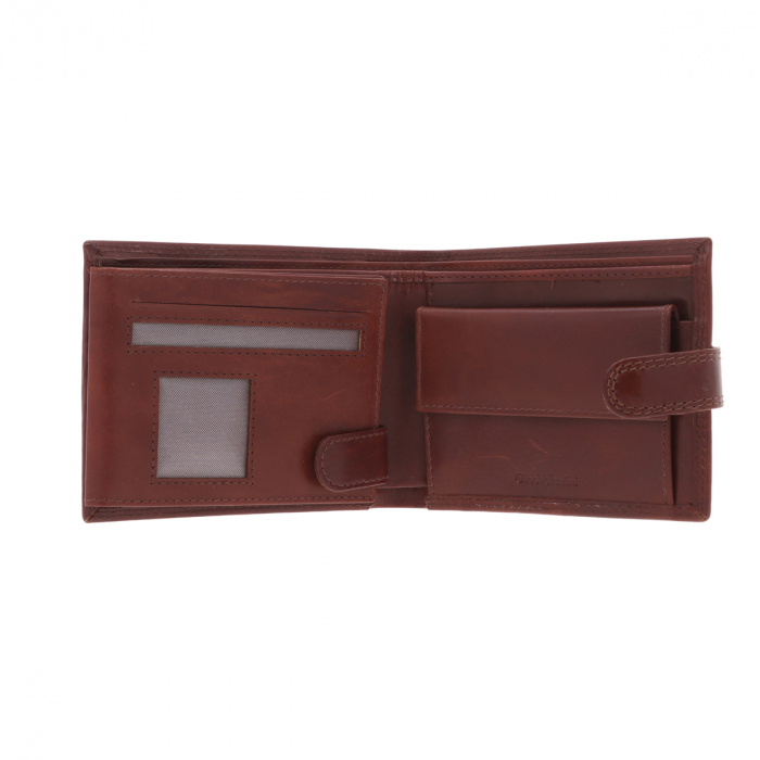 Portofel din piele maro coniac Valentini pentru barbati, model 561 [2]