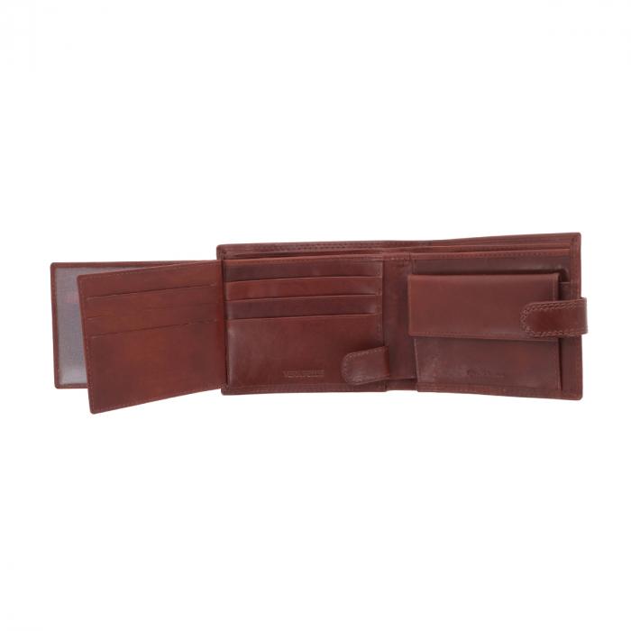 Portofel din piele maro coniac Valentini pentru barbati, model 561 [3]