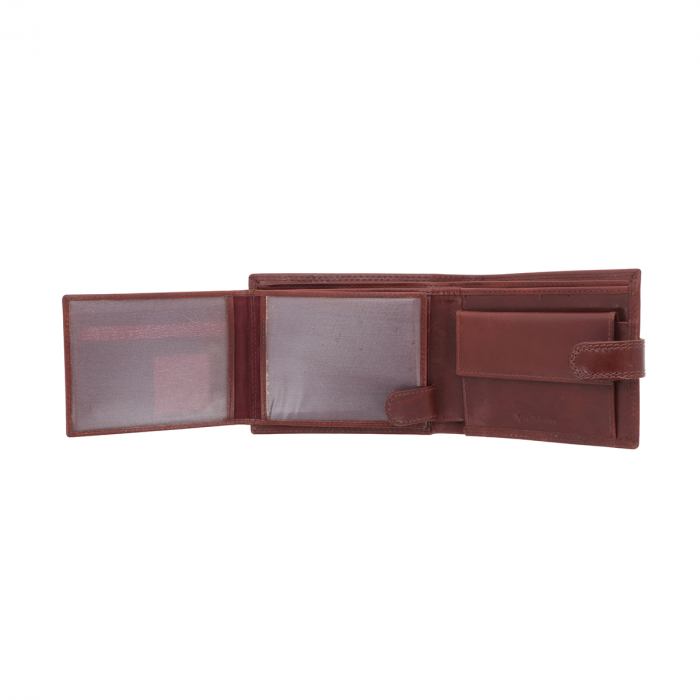 Portofel din piele maro coniac Valentini pentru barbati, model 561 [4]