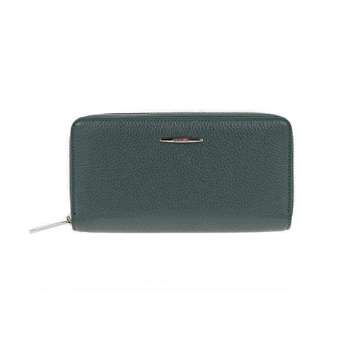Portofel din piele naturala moale verde, Eminsa model 2160 [1]