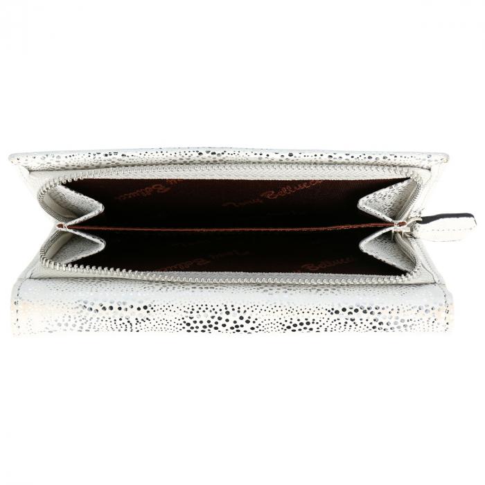 Portofel din piele naturala, model Tony Bellucci T866 argintiu [3]