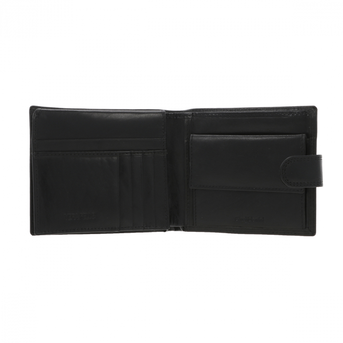 Portofel din piele neagra Valentini pentru barbati, model 298 [2]