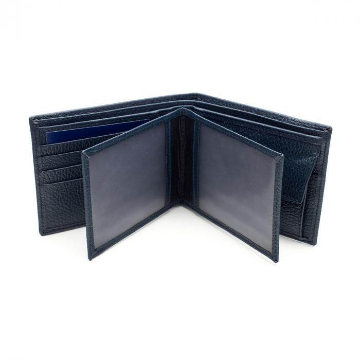 Portofel din piele pentru barbati,bleumarin S105 [2]