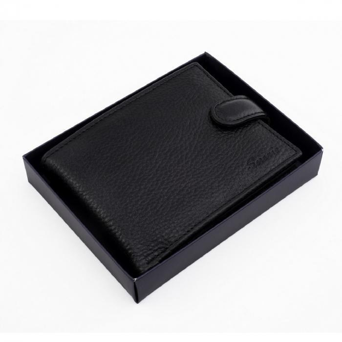 Portofel din piele pentru barbati,negru S106 [4]