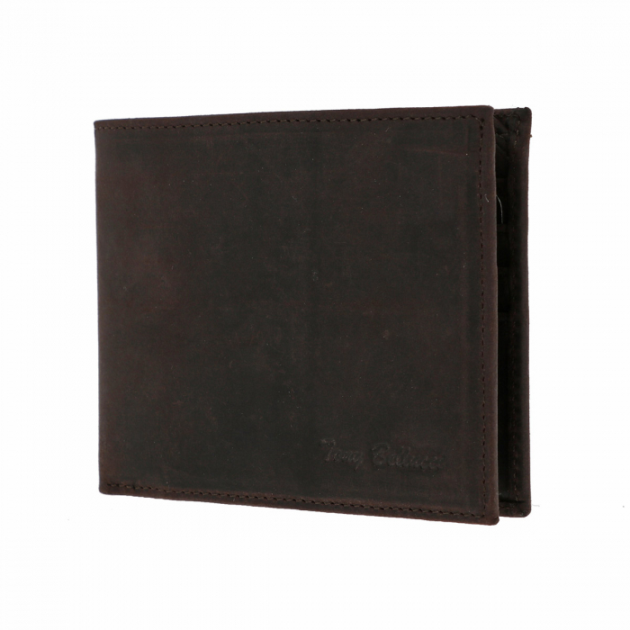 Portofel slim din piele maro ruginiu Tony Bellucci pentru barbati, model T138-07 [1]