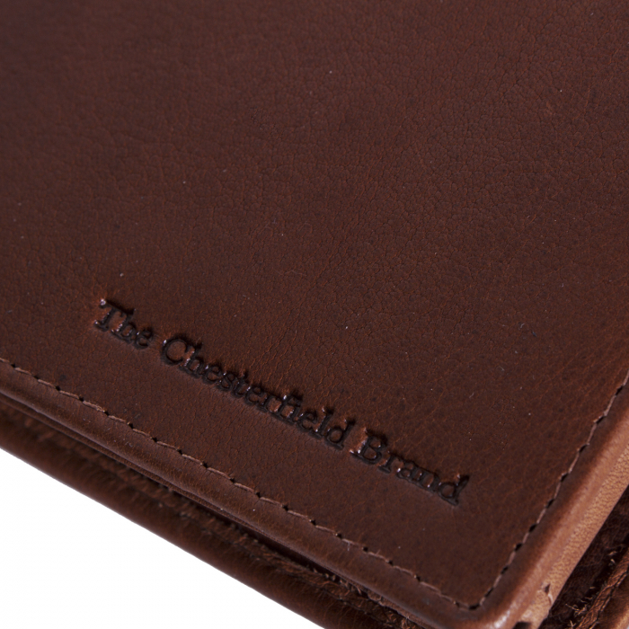 Portofel The Chesterfield Brand, cu protectie anti scanare RFID, din piele naturala, Marion, Maro coniac [3]