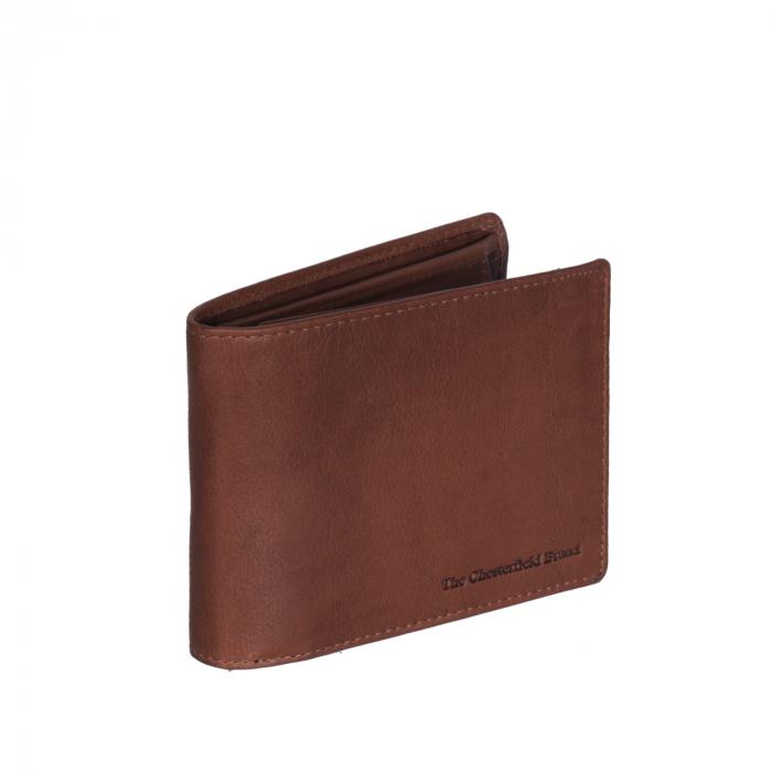 Portofel The Chesterfield Brand, cu protectie anti scanare RFID, din piele naturala, Marion, Maro coniac [0]