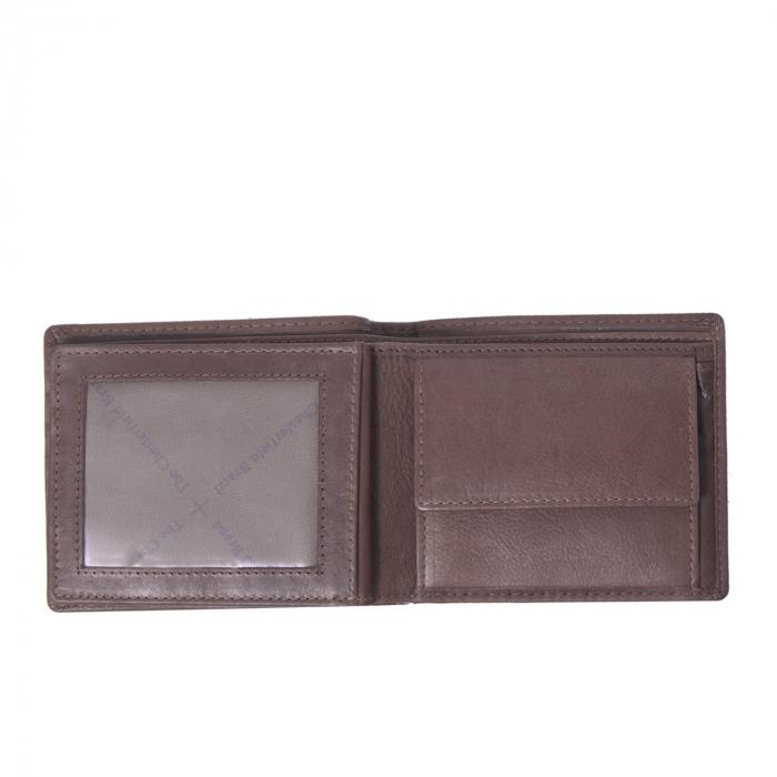 Portofel The Chesterfield Brand, cu protectie anti scanare RFID, din piele naturala, Ralph, Maro inchis [1]