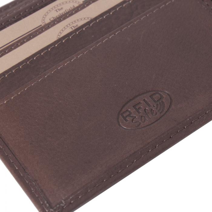 Portofel The Chesterfield Brand, cu protectie anti scanare RFID, din piele naturala, Ralph, Maro inchis [3]