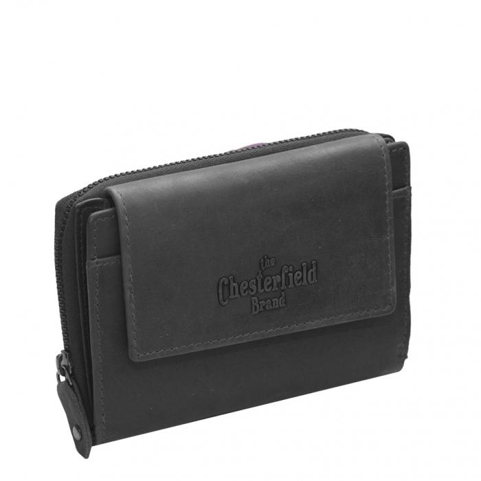 Portofel The Chesterfield Brand, cu protectie anti scanare RFID, din piele naturala moale, Ascot, Negru [0]