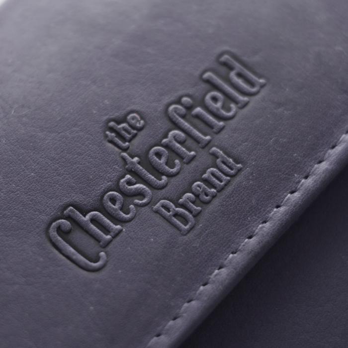 Portofel The Chesterfield Brand, cu protectie anti scanare RFID, din piele naturala moale, Ascot, Bleumarin [4]