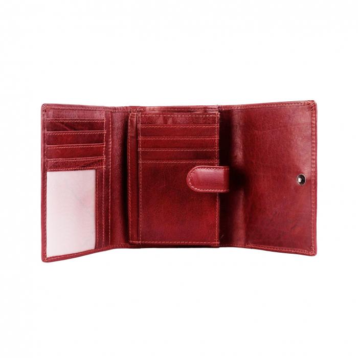 Portofel The Chesterfield Brand, cu protectie anti scanare RFID, din piele naturala, Avery, Rosu [1]