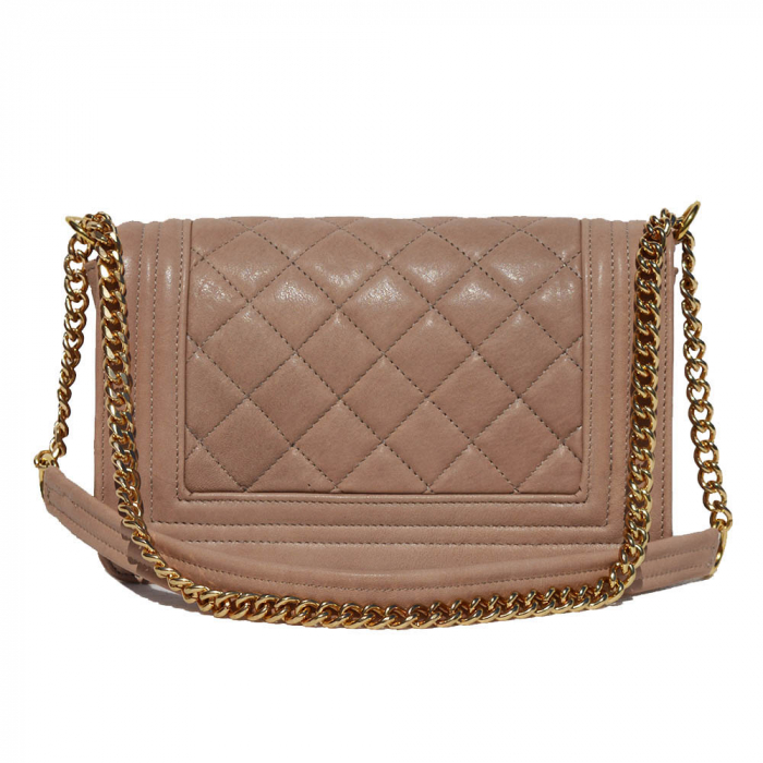 Poseta tip Chanel piele matlasata pudra [1]