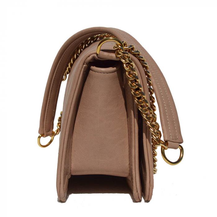 Poseta tip Chanel piele matlasata pudra [2]