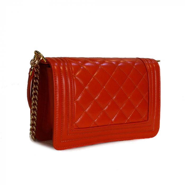 Poseta tip Chanel piele portocalie [1]