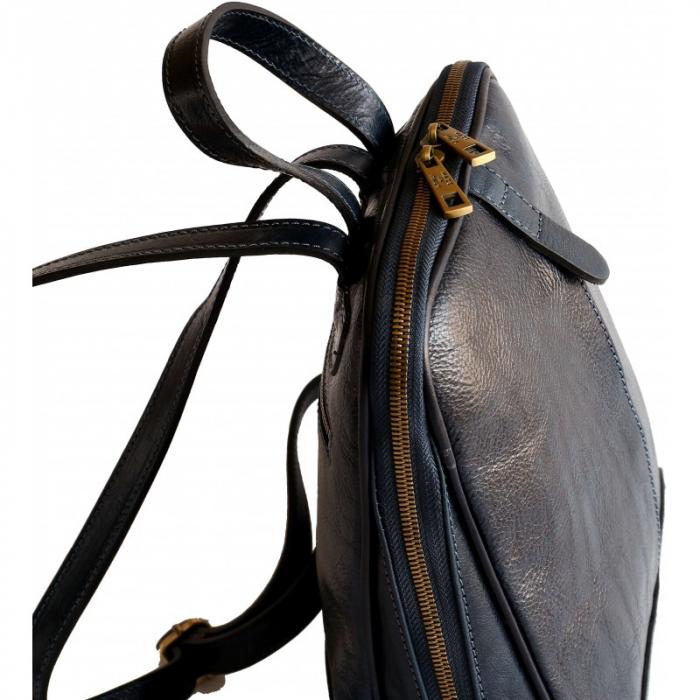 Rucsac  de dama din piele bleumarin inchis model R102 [3]