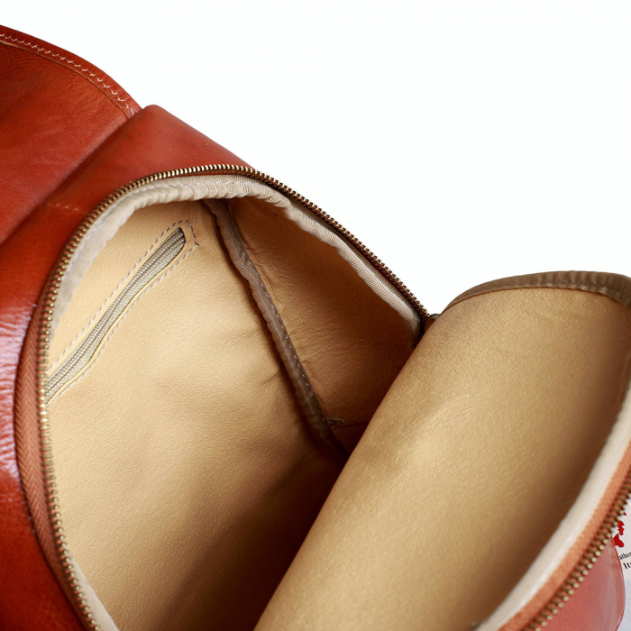 Rucsac  de dama din piele maro coniac model R101 [2]