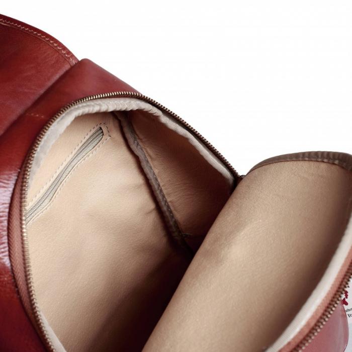 Rucsac  de dama din piele maro model R101 [2]