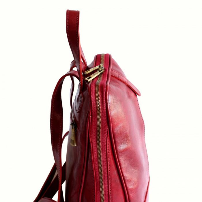 Rucsac  de dama din piele rosie model R102 [3]