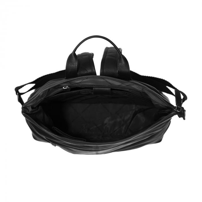 Rucsac de laptop din piele naturala, The Chesterfield Brand, Kuta 15.6 inch, Negru [4]