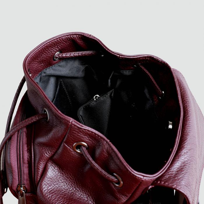 Rucsac din piele bordo model R100 [2]