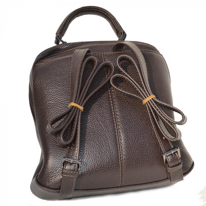 Rucsac din piele maro, marca Tony Bellucci, model T121 [2]