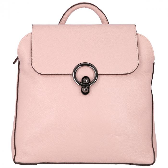 Rucsac din piele naturala roz pudra model 4114 [1]