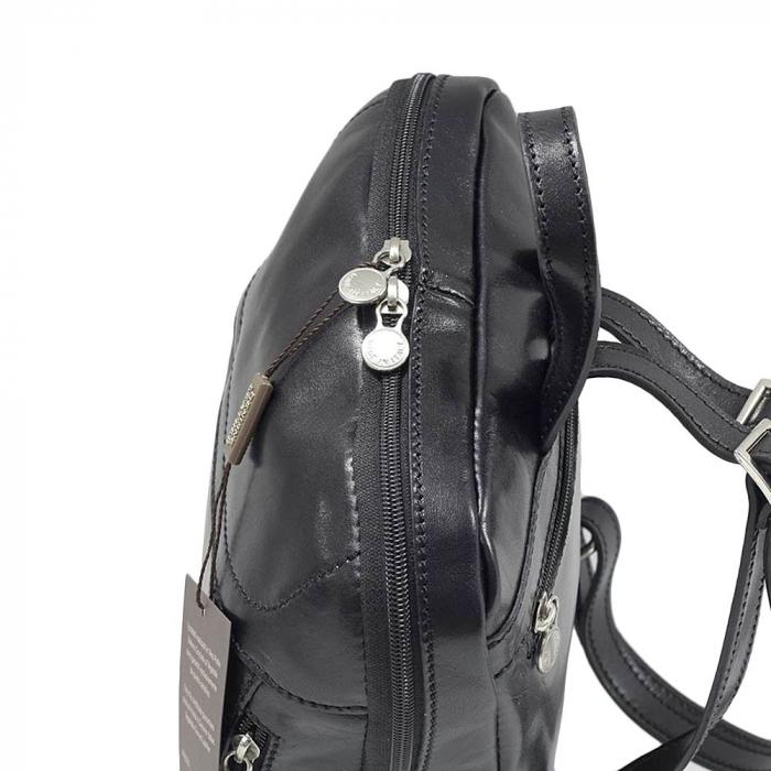 Rucsac din piele naturala vachetta neagra model 4430 [3]
