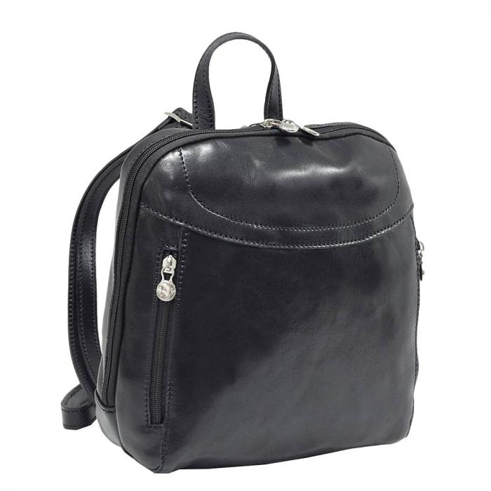 Rucsac din piele naturala vachetta neagra model 4430 [0]