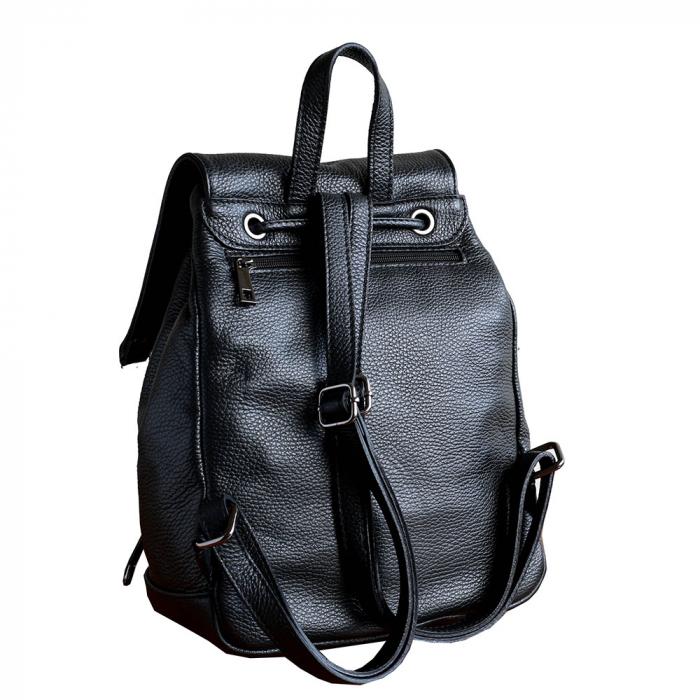 Rucsac din piele neagra model R100 [1]
