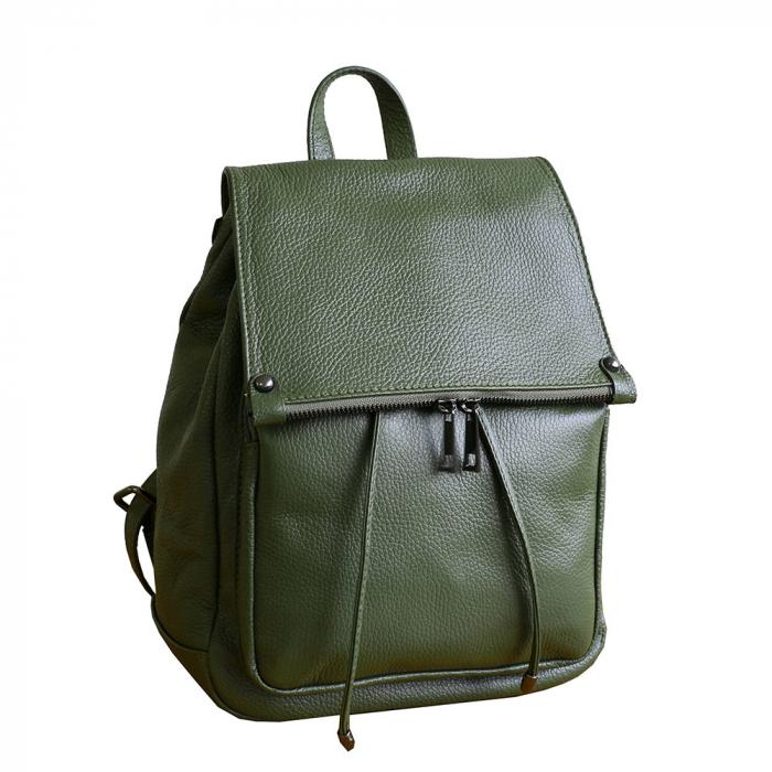 Rucsac din piele verde model R100 [0]