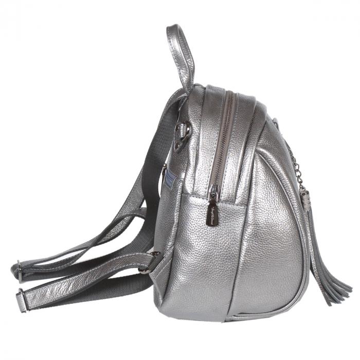 Rucsac/geanta de dama din piele naturala argintiu 175 [1]