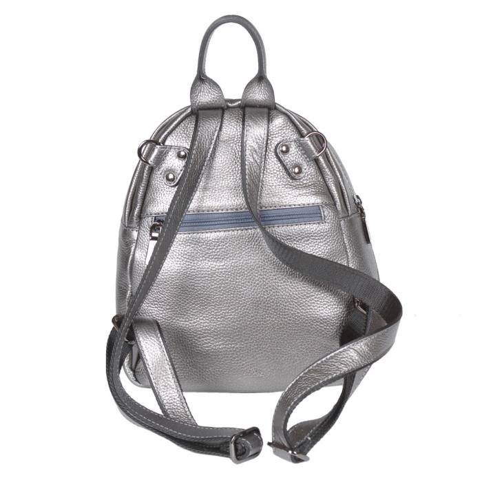 Rucsac/geanta de dama din piele naturala argintiu 175 [2]