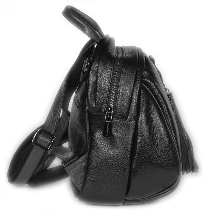 Rucsac/geanta de dama din piele naturala neagra 175 [1]