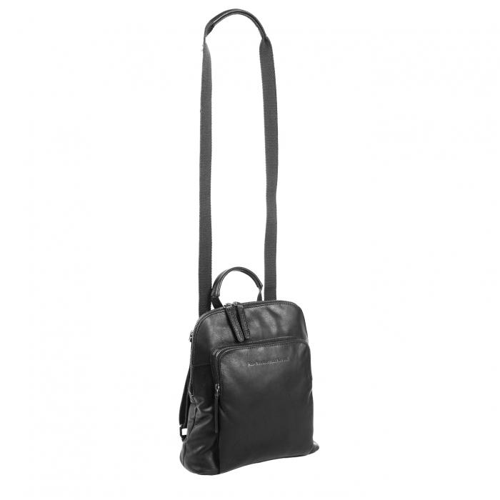 Rucsac / geanta de dama din piele naturala, The Chesterfield Brand, Sienna, Negru [1]