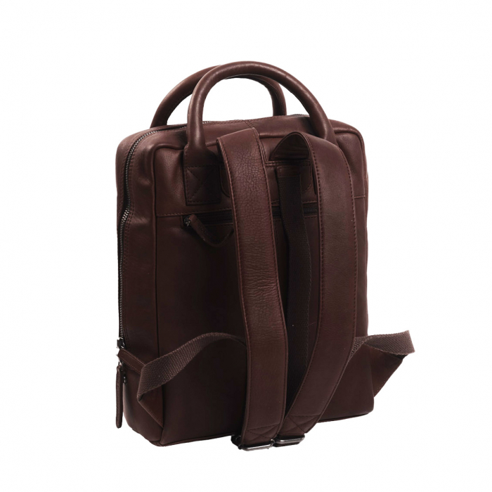 Rucsac laptop 13 inch, The Chesterfield Brand din piele moale maro, Davon [3]