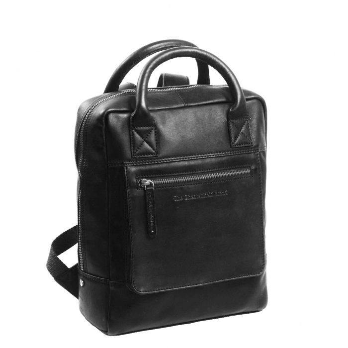 Rucsac laptop 13 inch, The Chesterfield Brand din piele moale neagra, Davon [0]