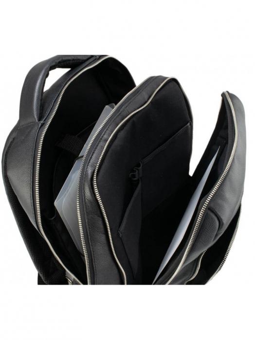 Rucsac mare din piele naturala neagra, model unisex 259 [5]
