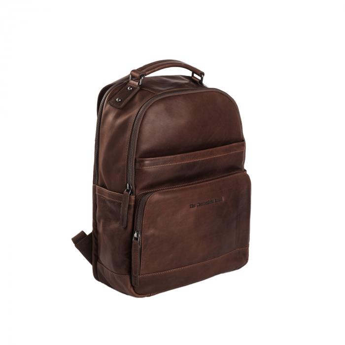 Rucsac pentru laptop de 14 inch si tableta, The Chesterfield Brand, din piele naturala, Austin, Maro inchis [0]