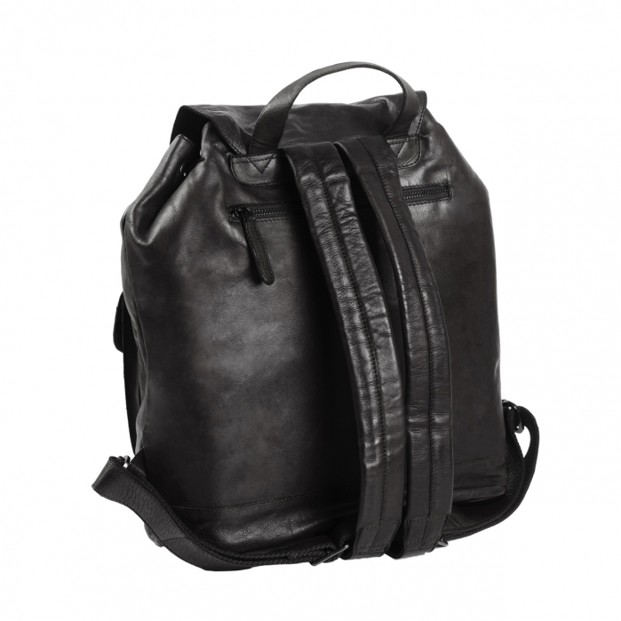 Rucsac pentru laptop de 14 inch, The Chesterfield Brand, din piele naturala, model Dani, Negru [5]
